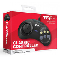 Megadrive Controller Wired 6 Button RetroPad