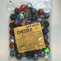 Bag of 50 Assorted Loose Gemini  Polyhedral d20 Dice