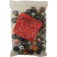 Bag of 50 Assorted Loose Gemini  Polyhedral d12 Dice