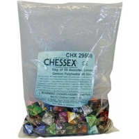 Bag of 50 Assorted Loose Gemini  Polyhedral d8 Dice