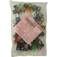 Bag of 50 Assorted Loose Gemini  Polyhedral d6 Dice