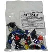 Bag of 50 Assorted Loose Opaque Polyhedral d4 Dice