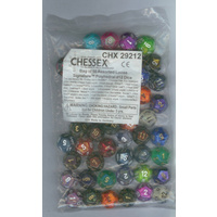 Bag of 50 Assorted Loose Signature  Polyhedral d12 Dice