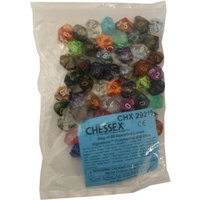 Bag of 50 Assorted Loose Signature  Polyhedral d10 Dice