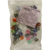 Bag of 50 Assorted Loose Signature  Polyhedral d8 Dice