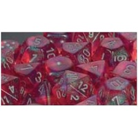 Chessex -  D6 Dice Borealis 16mm Pink/Silver (12 Dice in Display)