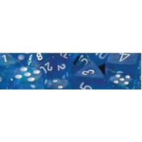 Chessex -  D7-Die Set Dice Borealis Polyhedral Sky Blue/White (7 Dice in Display)