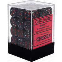 Chessex -  D6 Dice Speckled 12mm Space (36 Dice in Display)