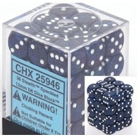 Chessex -  D6 Dice Speckled 12mm Stealth (36 Dice in Display)