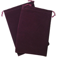 Chessex -  Dice Bag Suedecloth Large Burgundy