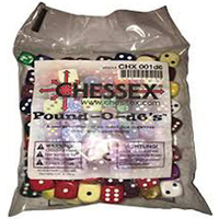 Chessex -  BULK D6 Pound-O (Appx 100 Dice)