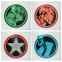 Marvel Avengers Set of 4 Glass Coasters
