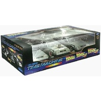 Back To The Future Trilogy Die Cast DeLorean Set 1:24 Scale