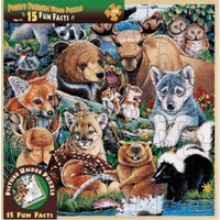 Forest Friends Wood Fun Facts Puzzle 48pc