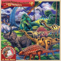 Dinosaur Friends Wood Fun Facts Puzzle 48pc