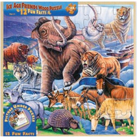 Ice Age Friends  Wood Fun Facts Puzzle 48pc