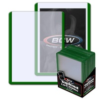 BCW 3 X 4 Topload Card Holder - Green Border