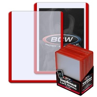 BCW 3 X 4 Topload Card Holder - Red Border