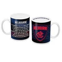 AFL Coffee Mug Melbourne Demons Team Song 11oz Mug
