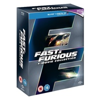 The Fast & Furious 7 Movie Collection Region B UK (1-7) Blu-ray