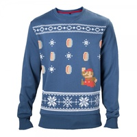 Running Mario Christmas Sweater - X Large