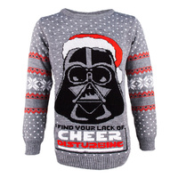 Darth Vader Christmas Sweater - Large
