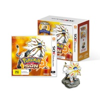 Pokemon Sun with Solgaleo Figure 3DS