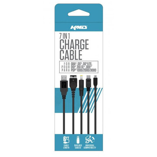 KMD Universal 7 in 1 Charge Cable GBA, DS, DS Lite, DSi, 3DS, PSP, 3DS