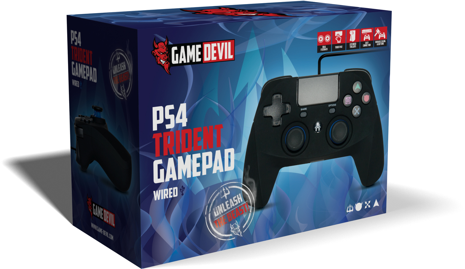 Gamedevil Trident Wired Gamepad Controller Ps4 Logitech F310