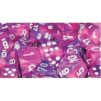 Chessex -  D6 Dice Festive 12mm Violet/White (36 Dice in Display)
