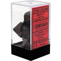 Chessex -  D7-Die Set Dice Speckled Polyhedral Space (7 Dice in Display)