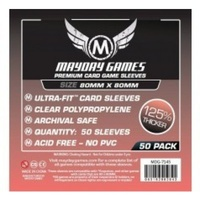 Mayday Card Game Sleeves 80x80mm