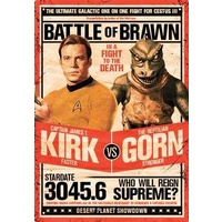 "Star Trek Kirk vs Gorn Tin Sign 8"" x 11.5"""
