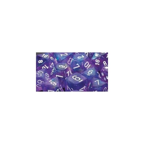 Chessex -  D6 Dice Borealis 12mm Purple/White (36 Dice in Display)